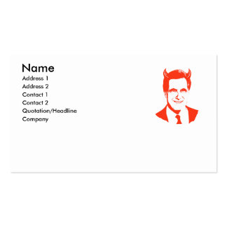 Romney is the Devil Business Cards