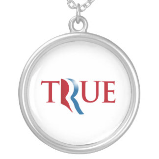 ROMNEY IS TRUE.png Round Pendant Necklace