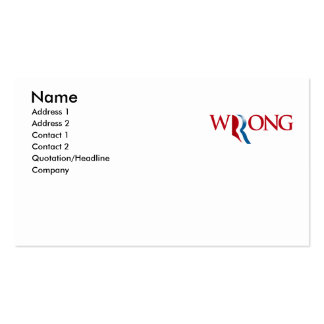 Romney is Wrong Pack Of Standard Business Cards