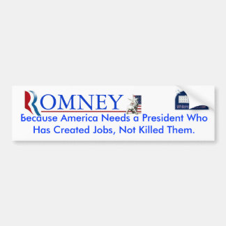 Romney: Job Creator Car Bumper Sticker