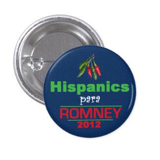 Romney Latinos 3 Cm Round Badge