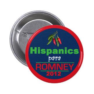 Romney Latinos 6 Cm Round Badge