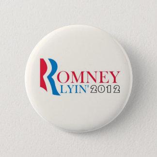 Romney Lyin' 2012 6 Cm Round Badge