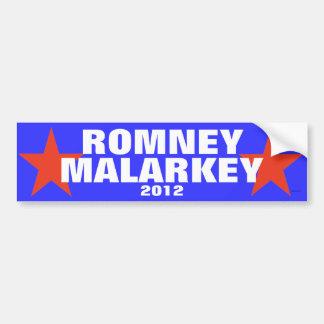 Romney Malarkey 2012 bumper sticker