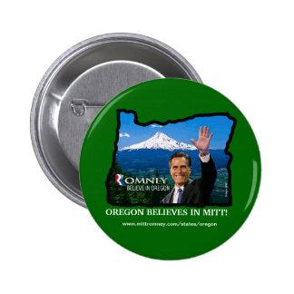 Romney Oregon button