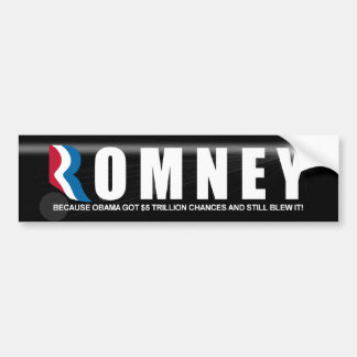 Romney - President - 2012 - Anti Obama Bumper Sticker