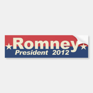 Romney - President 2012 - anti Obama Bumper Sticker