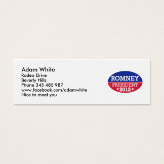 Romney President 2012 Mini Business Card