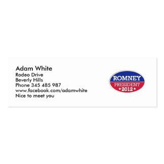 Romney President 2012 Pack Of Skinny Business Cards