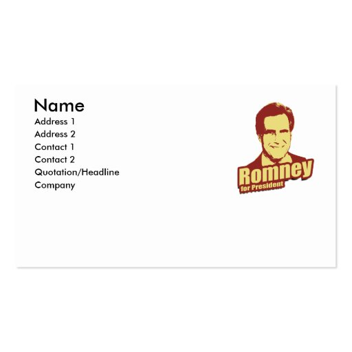 ROMNEY Propaganda Business Card