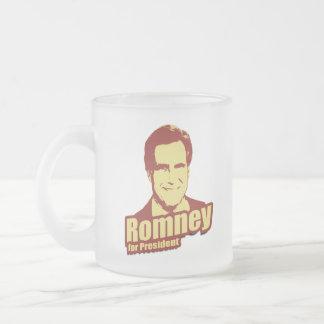 ROMNEY Propaganda Frosted Glass Mug