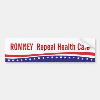 ROMNEY Repeal Health Care Bumper Sticker