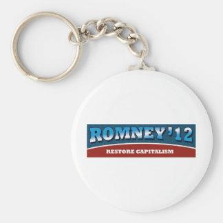 Romney- Restore Capitalism Keychains