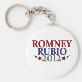 Romney Rubio 2012 Basic Round Button Key Ring