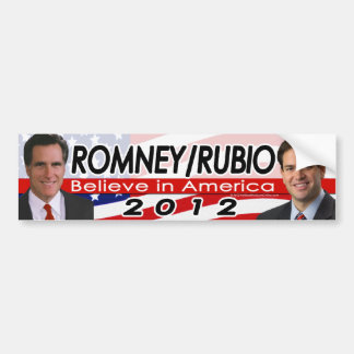Romney/Rubio 2012 Republican Presidential Election Bumper Sticker