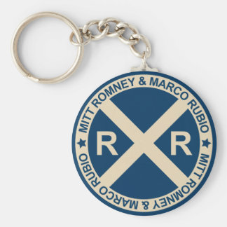 Romney Rubio American Crossroads Basic Round Button Key Ring