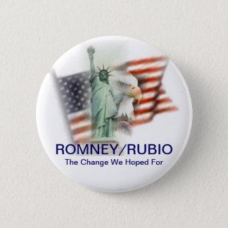 Romney/Rubio Election 2012 Campaign Button