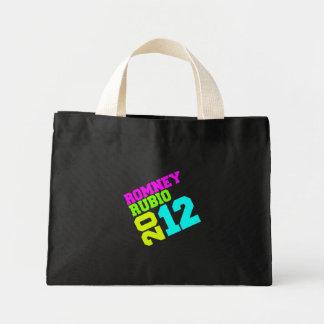 ROMNEY RUBIO VP NEON COLLEGIATE.png Mini Tote Bag