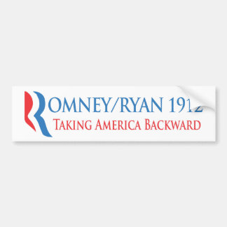 Romney/Ryan 1912 - Taking America Backward Bumper Sticker