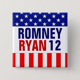 Romney Ryan 2012 15 Cm Square Badge