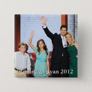 Romney-Ryan 2012!!! 15 Cm Square Badge