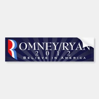 Romney/Ryan 2012, Believe in America, Blue Decal