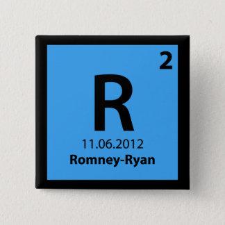 Romney Ryan 2012 Elemental Campaign Button
