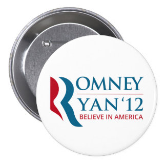 Romney Ryan 2012 for US President and VP Button