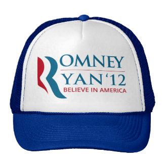 Romney / Ryan 2012 for US President and VP Cap