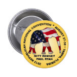 Romney Ryan 2012 GOP Convention 6 Cm Round Badge