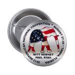 Romney Ryan 2012 GOP Convention Badge