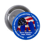 Romney Ryan 2012 GOP Convention Buttons