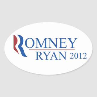 Romney Ryan 2012 Oval Sticker