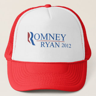 Romney Ryan 2012 Red Trucker Hat