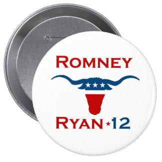 ROMNEY RYAN 2012 STEER.png 10 Cm Round Badge