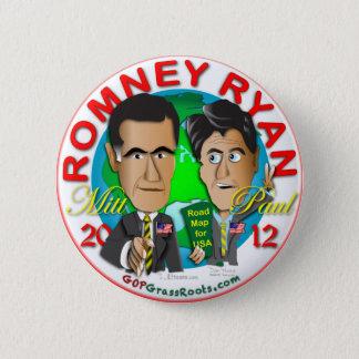 Romney Ryan 6 Cm Round Badge