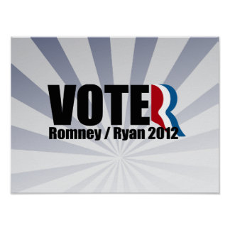 ROMNEY RYAN ARE VOTERS png Posters