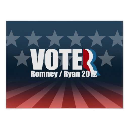 ROMNEY RYAN ARE VOTERS -.png Print