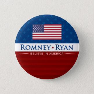 Romney & Ryan Believe in America 6 Cm Round Badge