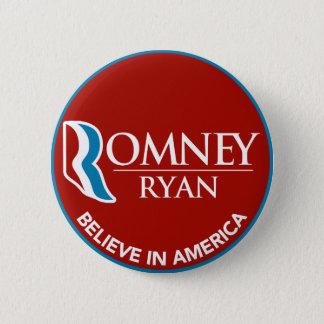 Romney Ryan Believe In America Round Red 6 Cm Round Badge