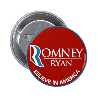 Romney Ryan Believe In America Round Red 6 Cm Round Badge