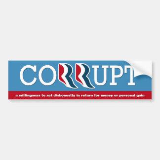 Romney & Ryan - Corrupt Bumper Sticker