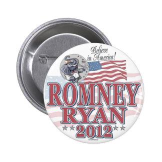 Romney Ryan GOP Ticket 6 Cm Round Badge