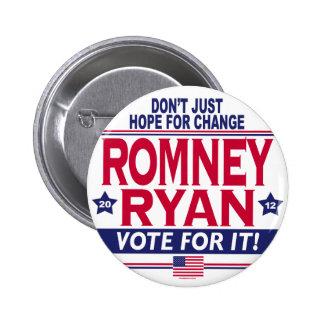 Romney Ryan Hope Change 6 Cm Round Badge
