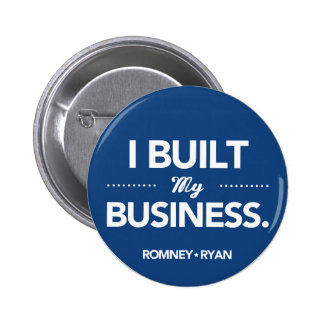 Romney Ryan I Built My Business (Blue) 6 Cm Round Badge