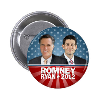 Romney Ryan - Jugate with Stars and Stripes 6 Cm Round Badge