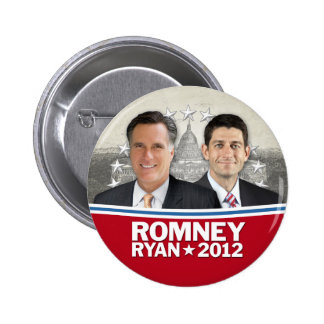 Romney Ryan - Jugate with Vintage White House Button