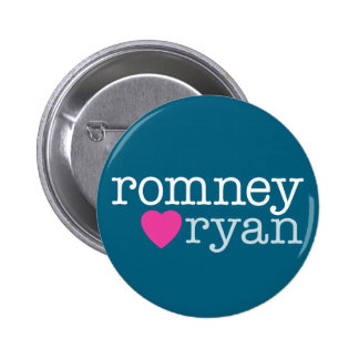Romney Ryan - love with a heart 6 Cm Round Badge