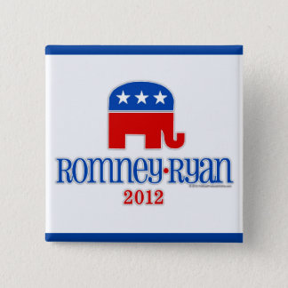 Romney/Ryan Patriot Elephant 15 Cm Square Badge