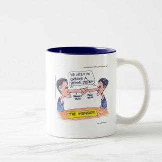 Romney Ryan Pinocchio Merger Funny Gifts & Tees Coffee Mug